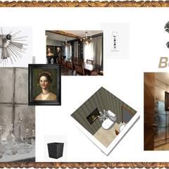 Penthouse barroco-moderno: Baños de estilo  por Andrea Loya, Ecléctico
