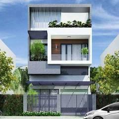 Villas by Nguyen Hung Architects, Modern Concrete