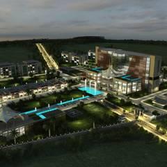 Hospitales de estilo  por ms mimarlık, Moderno