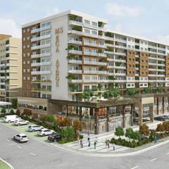ms mimarlık – AydosLand Konut Projesi:  tarz Apartman,