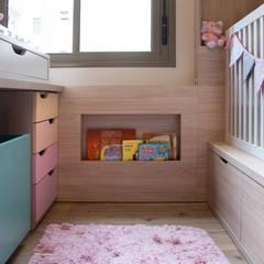 JuBa - Arquitetando Ninhosが手掛けた赤ちゃん部屋, モダン