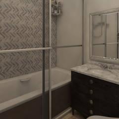 Renderizado 3D Virtual Real: Baños de estilo  por Arkiline Arquitectura Optativa, Clásico Aglomerado