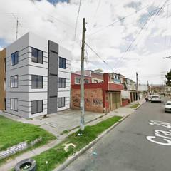 MULTIFAMILIAR RAMIREZ: Casas multifamiliares de estilo  por FENIXARQ., Minimalista Concreto