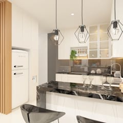 Interior Design KG House: Dapur built in oleh TEKART., Modern