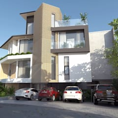 A Modern 4-Storey Residence with Pool:  Single family home by Structura Architects,