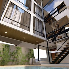 A Modern 4-Storey Residence with Pool:  Garden Pool by Structura Architects,