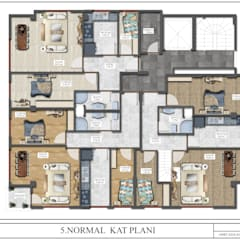 ÇAM MİMARLIK – (MALTEPE) PROJESİ:  tarz Apartman,