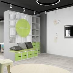 Административный офис компании Yota: Рабочие кабинеты в . Автор – Дизайн-студия 'ExclusivE project', Лофт