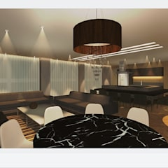Lounge condomínio Niterói: Espaços gastronômicos  por Bifásicos Interiores,