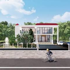 太陽能藝術別墅 Solar Art Villa:  別墅 by 盧博士虛擬實境設計工坊,