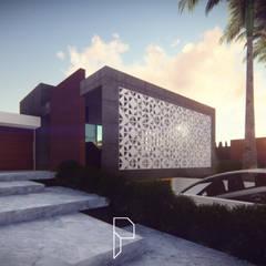 Terrace house by Pedro Mendes Arq, Minimalist Concrete