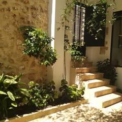 Terrace by Gestionarq, arquitectos en Xàtiva, Rustic Stone