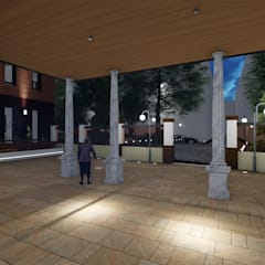 Hospitales de estilo  por Alfaro Arquitecto 3A3, Moderno