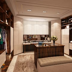 Closet - Projecto 3D para moradia no Estoril Closets modernos por Alpha Details Moderno