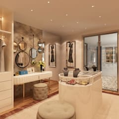 Closet – Projecto 3D para moradia em Paris Closets modernos por Alpha Details Moderno