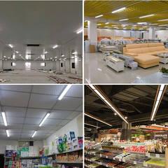 Gimnasios en casa de estilo  por OVILED, Escandinavo Aluminio/Cinc