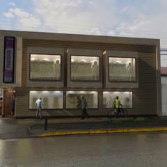 TIENDA PORVENIR: Centros Comerciales de estilo  por ARQUITECTURA NATALES, Moderno Arenisca
