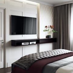 Small bedroom by 'INTSTYLE', Classic Wood Wood effect