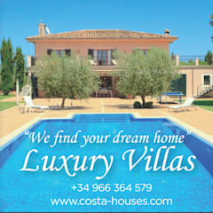COSTA HOUSES Luxury Villas S.L · Exclusive Real Estate in Javea COSTA BLANCA Spain의  정원 수영장, 콜로니얼 (Colonial)