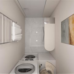 ЖК «Достояние» Ванная комната в скандинавском стиле от 'INTSTYLE' Скандинавский Гранит