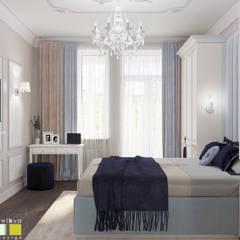 Дом с историей Спальня в эклектичном стиле от Мастерская интерьера Юлии Шевелевой Эклектичный