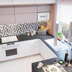 Projekt Kuchni Online: styl , w kategorii Małe kuchnie zaprojektowany przez Senkoart Interior Design,Nowoczesny