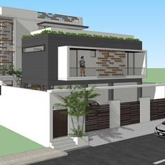 Ravi Prakash Architectが手掛けた二世帯住宅,