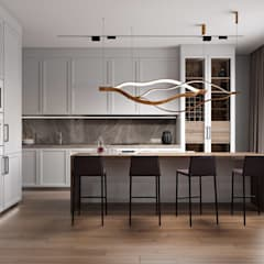 Built-in kitchens by 'INTSTYLE', Scandinavian Wood Wood effect