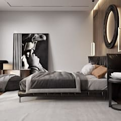 Small bedroom by 'INTSTYLE', Scandinavian Wood Wood effect