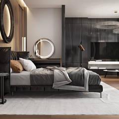 'INTSTYLE':  tarz Küçük Yatak Odası, İskandinav Ahşap Ahşap rengi