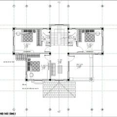 thiết kế biệt thự 3 tầng mái thái:  Biệt thự by Việt Architect Group , Tối giản