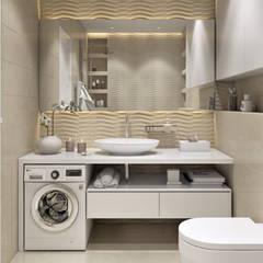 ЖК «Wellton park (Веллтон парк)»: Ванные комнаты в . Автор – 'INTSTYLE', Скандинавский Плитка
