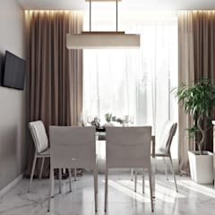Dining room by 'INTSTYLE', Scandinavian Wood Wood effect