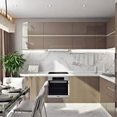 مطبخ ذو قطع مدمجة تنفيذ 'INTSTYLE', إسكندينافي خشب Wood effect