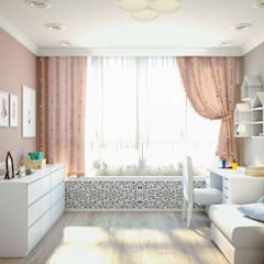 'INTSTYLE'의  여아 침실, 북유럽 우드 우드 그레인