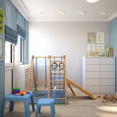 Habitaciones para niños de estilo  por 'INTSTYLE', Escandinavo Madera Acabado en madera