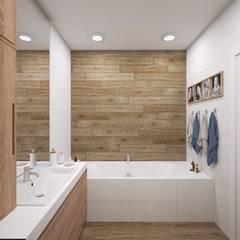 ЖК «Union Park (Юнион Парк)» Ванная комната в скандинавском стиле от 'INTSTYLE' Скандинавский Плитка