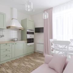 Projekty,  Małe kuchnie zaprojektowane przez дизайн-студия КАПУСТА, Skandynawski