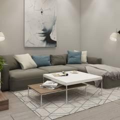 غرفة المعيشة تنفيذ 'INTSTYLE' , إسكندينافي خشب Wood effect