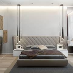 Projekty,  Małe sypialnie zaprojektowane przez 'INTSTYLE', Skandynawski Drewno O efekcie drewna