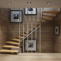 Stairs by 'INTSTYLE', Scandinavian Wood Wood effect