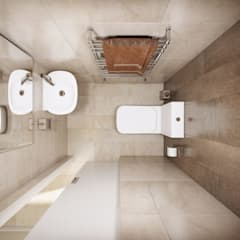Bathroom by 'INTSTYLE', Scandinavian Tiles