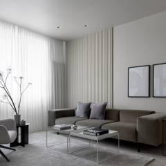 اتاق نشیمن توسطiPozdnyakov studio, مینیمالیستیک