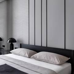غرفة نوم تنفيذ iPozdnyakov studio, تبسيطي