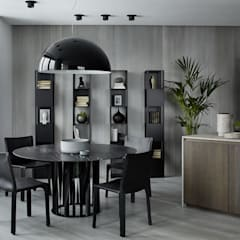اتاق غذاخوری توسطiPozdnyakov studio, مینیمالیستیک