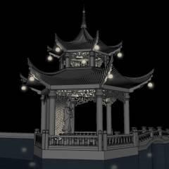 حديقة Zen تنفيذ Black Room Lab , أسيوي