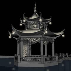 حديقة Zen تنفيذ Black Room Lab, أسيوي
