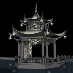 Zen garden by Black Room Lab, Asian