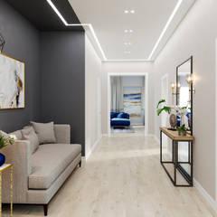 Industrial corridor, hallway & stairs by DesignNika Industrial