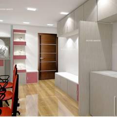 Estudios y despachos de estilo  por INTERIO MAKER, Asiático
